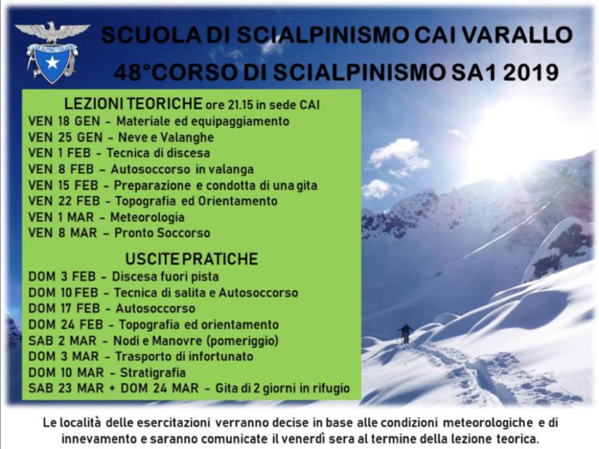 Corso SCI ALPINISMO 2019