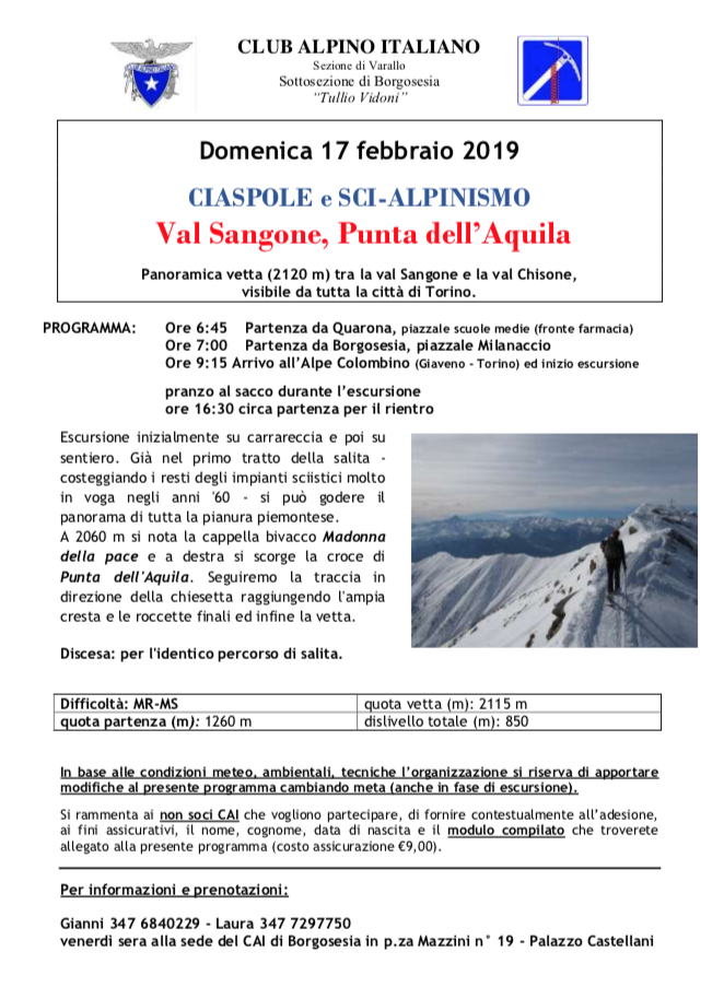 Val Sangone, Punta dell'Aquila
