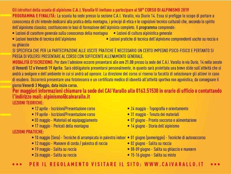 Corso Alpinismo 2019